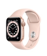 Apple Watch Series 6 GPS 44mm Gold Aluminium Case with Sport Band - Pink