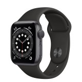 Apple Watch Series 6 GPS 40mm Grey Aluminum Case with Sport Band - Black