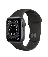 Apple Watch Series 6 GPS 44mm Grey Aluminum Case with Sport Band - Black