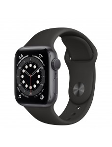 Apple Watch Series 6 GPS 44mm Grey Aluminium Case with Sport Band - Black