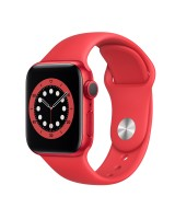 Apple Watch Series 6 GPS 44mm Red Aluminum Case with Sport Band - Red