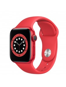Apple Watch Series 6 GPS 40mm Red Aluminum Case with Sport Band - Red