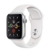 Apple Watch Series 6 GPS 40mm Silver Aluminum Case with Sport Band - White