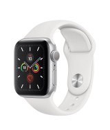 Apple Watch Series 6 GPS 44mm Silver Aluminum Case with Sport Band - White