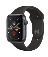Apple Watch Series 5 GPS 40mm Grey Aluminum Case with Sport Band - Black