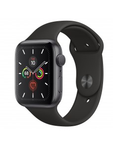 Apple Watch Series 5 GPS + Cellular 44mm Grey Aluminum Case with Sport Band - Black