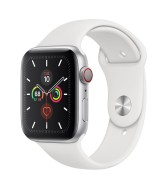 Apple Watch Series 5 GPS 40mm Silver Aluminum Case with Sport Band - White