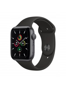 Apple Watch SE GPS 44mm Grey Aluminium Case with Sport Band - Black