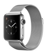 Apple Watch Series 2 GPS 38mm Black Steel Case Milanaise Loop - Black
