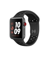 Apple Watch Nike Series 3 GPS + Cellular 42mm Grey Aluminum Case with Sport Band - Black