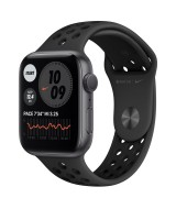 Apple Watch Series 6 Nike GPS 44mm Grey Aluminium Case with Sport Band - Black