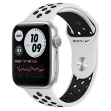 Apple Watch Series 6 Nike GPS 44mm Silver Aluminium Case with Sport Band - Black