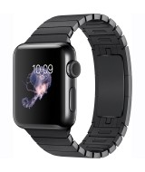 Apple Watch Series 2 GPS 38mm Black Steel Case Link Bracelet  - Black