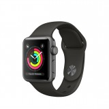 Apple Watch Series 3 GPS + Cellular 38mm Grey Aluminum Case with Sport Band - Black