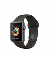 Apple Watch Series 3 GPS + Cellular 42mm Grey Aluminum Case with Sport Band - Black