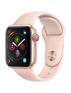Apple Watch Series 5 GPS + Cellular 40mm Gold Aluminum Case with Sport Band - Pink Sand