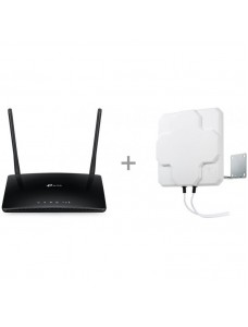 TP-LINK Archer MR400 LTE modem and WiFi base station + dual antenna with 15 m cable