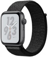 Apple Watch Nike+ Series 4 (GPS) kosmose hall 44 mm, must Nike Sport Loop rihm, MU7J2