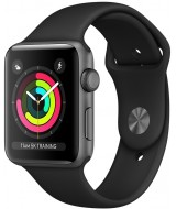 Apple Watch 3 GPS 42mm Space Gray Aluminum Case with Black Sport Band