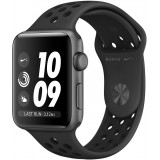 Apple Watch 3 Nike+ (GPS), kosmose hall, 42 mm, antratsiit- must Nike sportrihm, MQL42